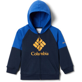Columbia Branded French Terry Chaqueta Cremallera Completa Niños, collegiate navy/azul/bright gold logo